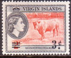 British Virgin Islands 1962 SG #164 3c On 2c MNH OG - British Virgin Islands