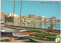 A3067 Malta - The Strand - Sliema - Barche Boats Bateaux / Non Viaggiata - Malta
