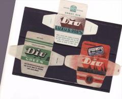3 Razor Blade Wrappers-Rasierklinge Wrapper/Verpackungen -Enveloppeurs Lames De Rasoir-LAMETTA DA BARBA-copertura - Razor Blades