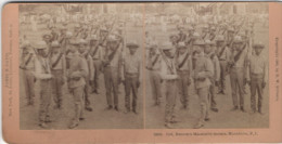 SPANISH AMERICAN WAR Col. Batson's MACABEBE SCOUTS Philippines P.I. KILBURN STEREOVIEW - Fotos Estereoscópicas