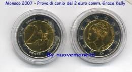 MONACO 2007 MONETA PROVA DEL 2 Euro Comm. Grace Kelly - ESSAI PROBEN TRIAL - Adel