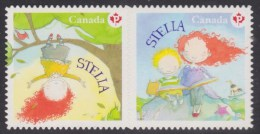 CANADA, 2013, #2654i, CHILDREN´S LITERATURE: STELLA,  MNH  DIE CUT PAIR FROM QUARTELY PACK - Carnets