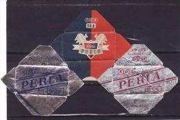 3 Razor Blade Wrappers-Rasierklinge Wrapper/Verpackungen -Enveloppeurs Lames De Rasoir-LAMETTA DA BARBA-copertura - Lames De Rasoir