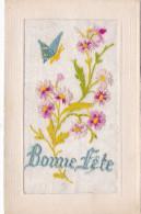 """BONNE FETE""  CP BRODEE(CHLOE4) - Bestickt"