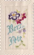 """BONNE FETE"" /CP BRODEE  (CHLOE4) - Bestickt"
