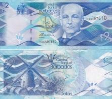 Barbados - 2 Dollars 2013 UNC Ukr-OP - Barbados (Barbuda)