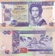 Belize - 2 Dollars 2011 UNC Ukr-OP - Belize