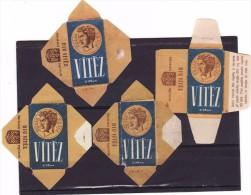 4 Old Razor Blade Wrappers-Rasierklinge Wrapper/Verpackungen -Enveloppeurs Lames De Rasoir-LAMETTA DA BARBA-copertura - Lames De Rasoir