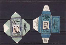 2 Old Razor Blade Wrappers-Rasierklinge Wrapper/Verpackungen -Enveloppeurs Lames De Rasoir-LAMETTA DA BARBA-copertura - Lames De Rasoir