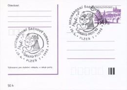 J0885 - Czechoslovakia (1992) Plzen 1: International Chess Tournament Mephisto GRAND PRIX '92 (commemorative Postmark) - Scacchi