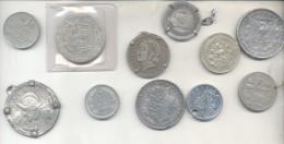 FAKE COINS MONEDAS FALSAS LOTE CON ALGUNA VERDADERA SOLD AS IS LOTE DE 11 PIEZAS - Counterfeits
