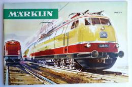 CATALOGUE TRAIN MARKLIN 1966 - 67 TRAINS LOCO - France
