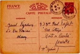 IRIS.ENTIER. 1941. NANCY-ENTREPOT (54) POUR LOURDES (65) - 1939-44 Iris