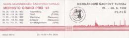J0888 - Czechoslovakia (1992) Stamps Booklet: International Chess Tournament Mephisto GRAND PRIX '92 - Czechoslovakia