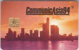 SINGAPORE - Singapore Down Town, CommunicAsia 94, Monetel Demo Card 100 Units, Tirage 1000, 05/94, Mint - Singapour