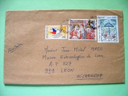France 2011 Cover To Nicaragua - Charity - Paintings - Peynet - Jerusalem - France