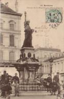 CPA BORDEAUX STATUE DE LA REPUBLIQUE PLACE PICARD1905 - Bordeaux