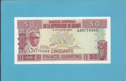 GUINEA - 50  FRANCS - 1985 - P 29 - UNC. - 2 Scans - Guinea