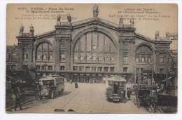 FRANCE ~ Train Station PARIS C1909 Postcard - Francia