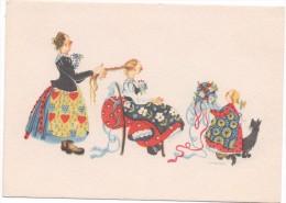 HAHN      - BEIM SCHMÜCKEN   ~ 1950 - Illustrators & Photographers