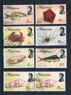 Mauritius 1969 Kleines Lot Von 8 Werten Gestempelt - Maurice (1968-...)