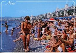 La Côte D´Azur... Nice La Plage N°12613 éd Mar - Pin Up Seins Nus - Nice