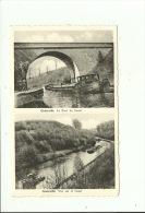 Chapelle Lez Herlaimont Godarville Vue Sur Le Canal Le Tunnel Du Canal ( Péniche ) - Chapelle-lez-Herlaimont