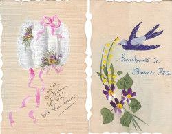 7 Jolies Cartes Peintes Et Crantelées - Cartes Postales