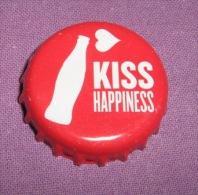 Coca-cola - Bottle Cap / Magnet - Kiss Happiness, Croatia, 2015. - Caps