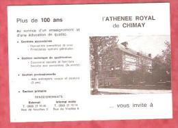 1985 - L'ATHENEE ROYAL De CHIMAY ... Vous Invite à -- Année Scolaire 1985-1986 - Calendriers