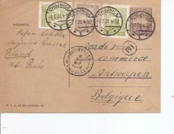 Pologne ( Carte Postale De 1928 De Chojnice Vers La Belgique à Voir) - 1919-1939 Republic