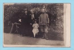 Famille RUDEN - MOREAU  Au 35 Rue De DENAIN à HELLESMES Par WALLERS Carte Photo Guerre 14/18 - Autres Communes