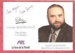 1992- Chimay -  Etienne Bertrand Député PRL De L'arrondissement De Thuin - Calendriers