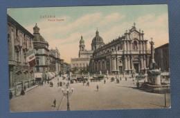 SICILIA - CP COLORISEE ANIMEE CATANIA - PIAZZA DUOMO - CARTOLERIA M. VITALI CAT. 17 - Catania