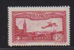 France //  Poste Aérienne //  N 5  // 1 F50 Carmin  //  NEUF Avec Trace De Charnière   //  Côte 26 € - 1927-1959 Neufs