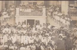 33-ARCACHON-CARTE PHOTO-Groupe D'Enfants-Escalier Casino ?... - Arcachon
