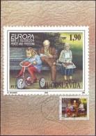 YUGOSLAVIA - JUGOSLAVIA - MAXI CARD - EUROPA - CYCLING - 1995 - Cycling