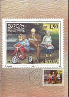 YUGOSLAVIA - JUGOSLAVIA - MAXI CARD - EUROPA - CYCLING - 1995 - Ciclismo