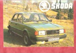 1985 - Skoda 120 GLS - Export Mokotow Prague - Calendriers