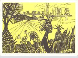 Afrique CÔTE D´IVOIRE Hôtel IVOIRE ABIDJAN La Cueillette Des Ananas Pineapple Harvest D'après Dessin Christine ACHALME - Côte-d'Ivoire