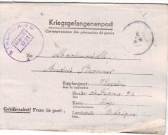 "Brief  KRIEGSGEFANGENEN  ""9 JUN 44"" ""STALAG XIII C / GEPRÜFT / D 21""+ ""Kdo. 4408"" (=HAMMELBURG) Naar VERVIERS - WW II"