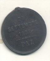 MEDAGLIA PAZ 20 SETTEMBRE 1902 ITALIA ITALIE ITALY RARE ORIGINAL BON ETAT MEDAILLE MEDAL  AUTHENTIC - Royal/Of Nobility