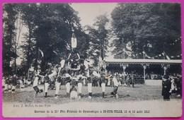 Cpa Is Sur Tille Souvenir 21e Fête Fédérale De Gymnastique Août 1913 Thème Sport Education Physique Région Bourgogne 21 - Is Sur Tille