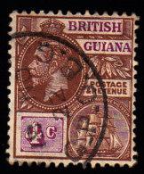 BRITISH GUIANA - Scott #194 George V (*) / Used Stamp - British Guiana (...-1966)