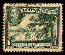 BRITISH GUIANA - Scott #210 Plowing A Rice Field (*) / Used Stamp - British Guiana (...-1966)