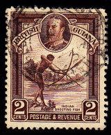 BRITISH GUIANA - Scott #211 Indian Shooting Fish (*) / Used Stamp - British Guiana (...-1966)