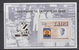 Zaire 1986 Cenzapost M/s ** Mnh (21606) - Zaïre