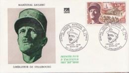 GUERRE 1939-45 ** Libération De Strasbourg Et Maréchal LECLERC  - 2ème DB **  Yvt N° 1608 - FDC France 1969 - WW2