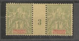 Océanie _  Millésimes 1F Vert - N°13 ( Neuf) - Oceania (1892-1958)