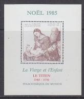 Zaire 1985 Christmas / Painting Titien M/s ** Mnh (21619) - Zaïre